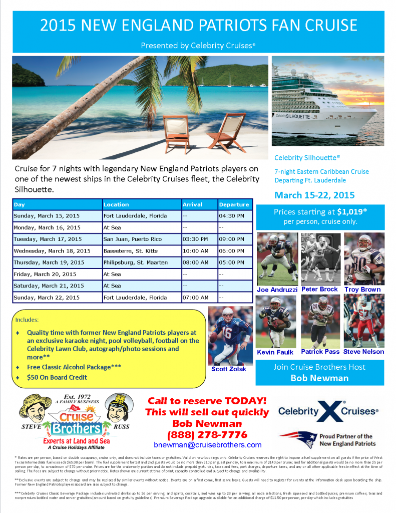 Patriots Cruise 3-15-15 BN as of 8-21-14